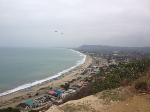 This is a view from an overlook of Puerto Cayo - the village I live in.