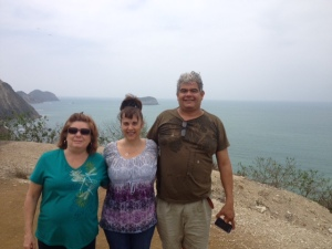 Gail, me and Jefferson at Puerto Cayo overlook
