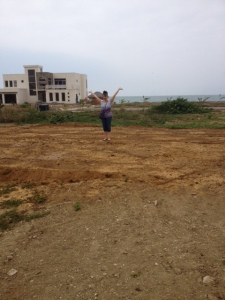 Here I am standing on my lot for the first time!