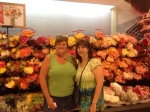Elaine and me in front of the famous Ecuador roses - $2.50 a dozen!