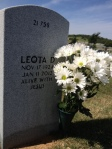 My visit on Mother's Day last year - daisies were her favorite. The epitaph says it all.