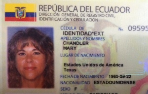 My official resident ID card (they tell you not to smile, but I had to at least give a hint of one!)