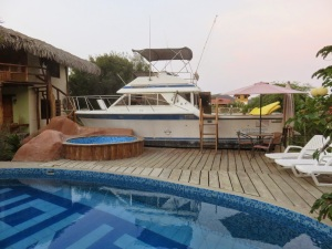 This was the dry dock boat Michelle lived on at the hostel after the rooms filled up - when she wasn't giving massages or teaching yoga, she worked to help renovate it.