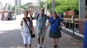 Another nice couple and single lady from Bill & Elaine's development travelled along with us and stayed in our hotel, but broke off to do their own excursions. Here we ran into them on the malecon.