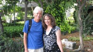 Bill & me in one of gardens along the malecon.
