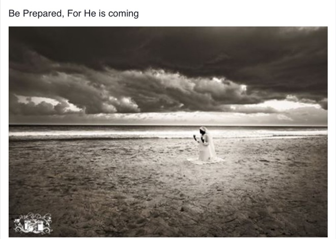 He is coming!