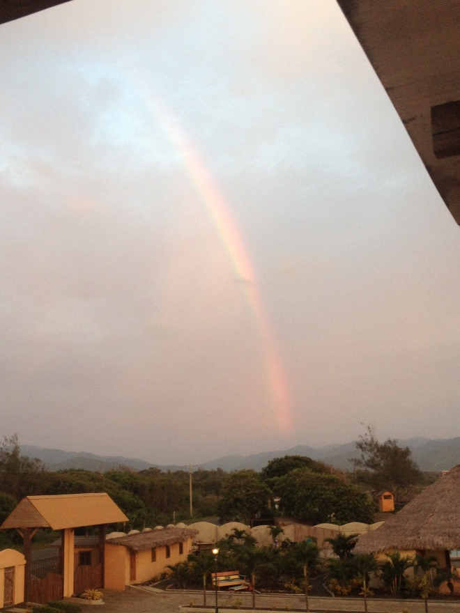 Rainbow over the mountains