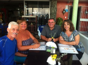 Bill, Elaine, Rick & me at our dinner restaurant - we had the whole place to ourselves.