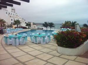 The beautiful venue for the event - note the infinity swimming pool with the ocean in the background