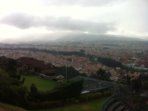 The scenic overlook of the city of Cuenca