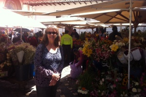 Me in the Cuenca flower market