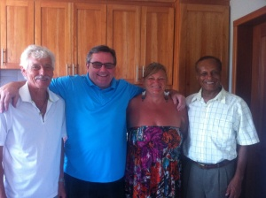Bill, Rick, Elaine and Mesfin - all very dear friends